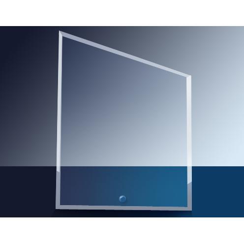 Cantebury Clear Glass Slant Rectangle Award