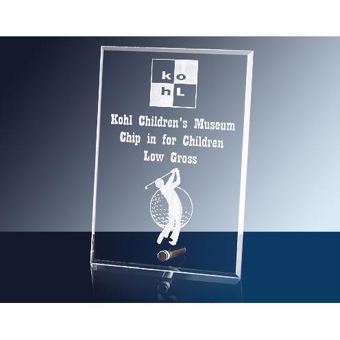 Cantebury Clear Glass Rectangle Award