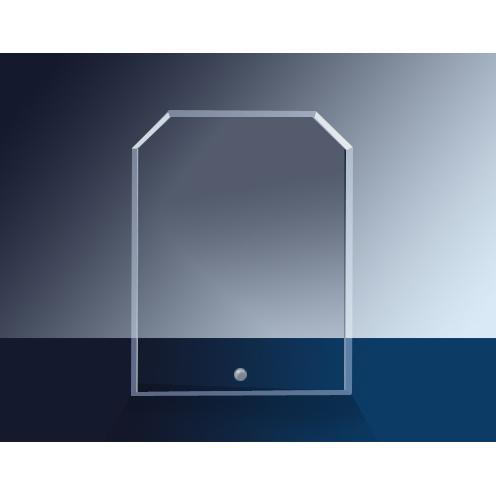 Cantebury Clear Glass Clipped Rectangle Award