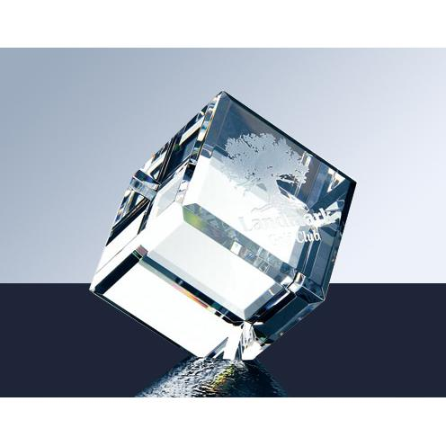 Crystal Diamond Cube Paperweight