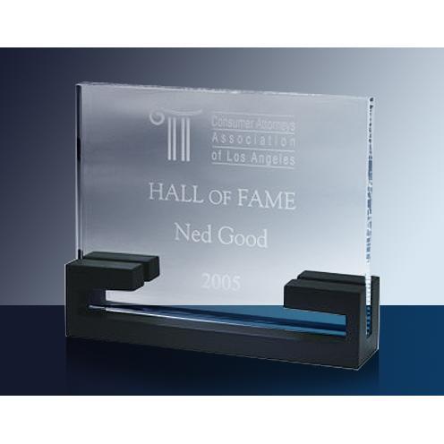 Retro Clear Glass Horizontal Award