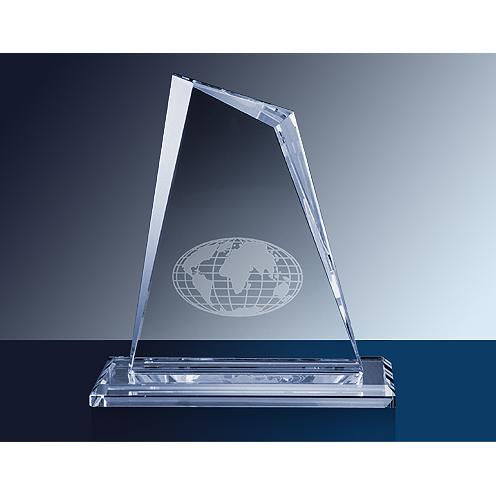 Faceted Clear Kryptonite Glass Award