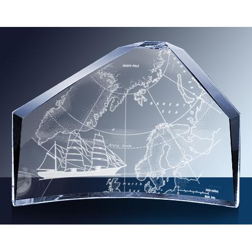 Regal Clear Glass Crescent Award