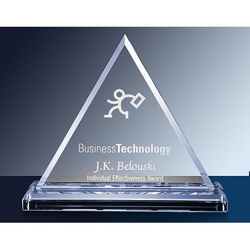 Clear Glass Triangle Award