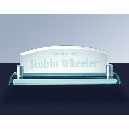 Jade Glass Arch Name Plate