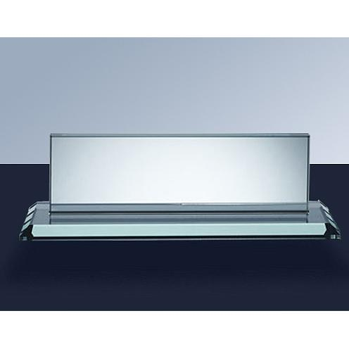Clear Jade Glass Name Plate