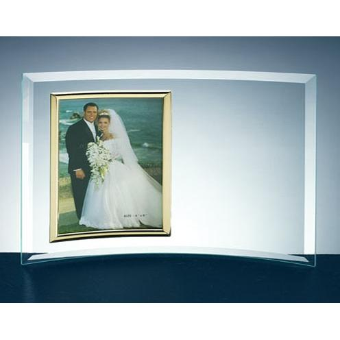 Clear Curved Glass Vertical Photo Frame
