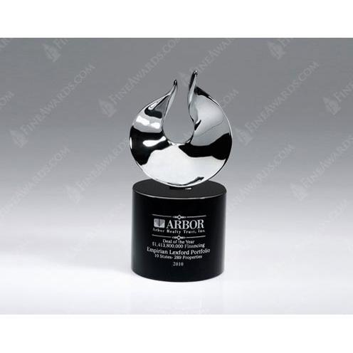 Crystal Oasis Flame Award on Black Crystal Base