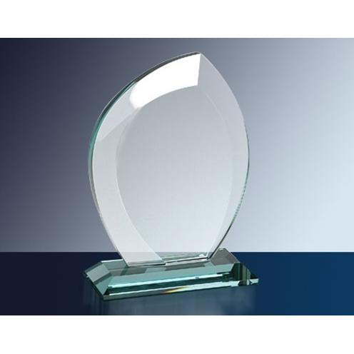Clear Jade Glass Leaf Award