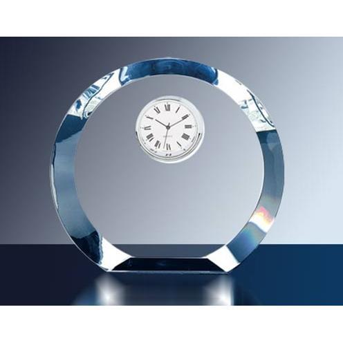 Optical Crystal Circle Clock