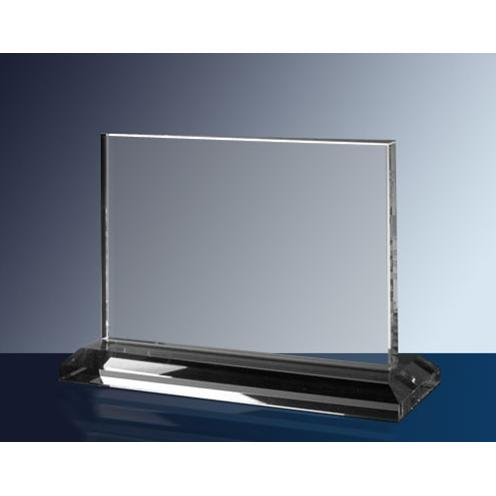 Clear Glass Horizontal Rectangle Plaque