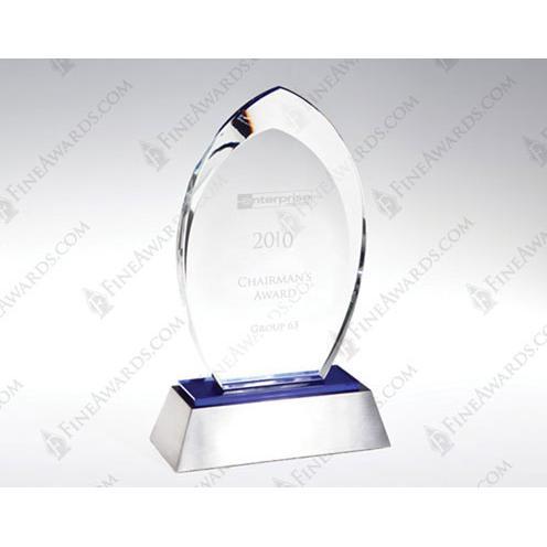 Blue Flare Crystal Award