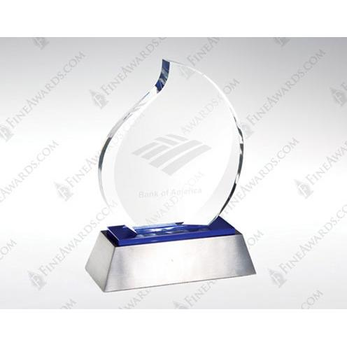 Blue Eternal Flame Crystal Award