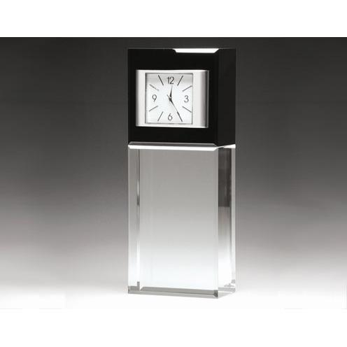 Optical Crystal Best Wishes Vertical Clock