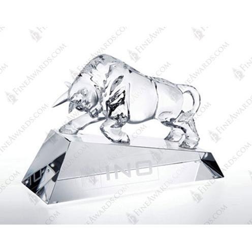 Clear Crystal Optimistic Bull Award