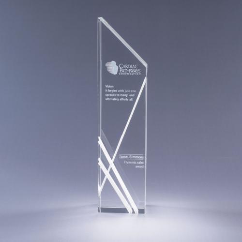 Clear Optical Crystal Tower Award