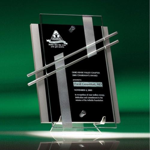 Nova Optical Crystal Plaque with Jade Glass