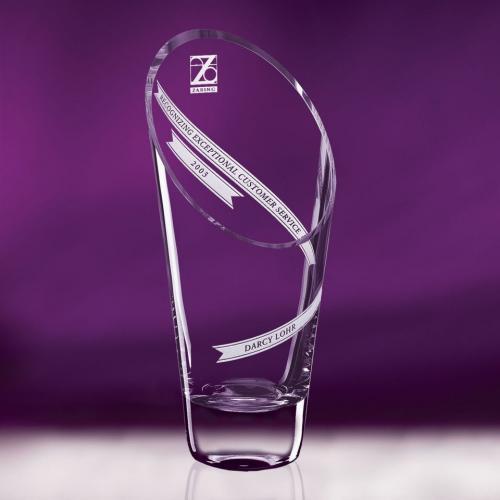 Clear Optical Crystal Aspire Vase