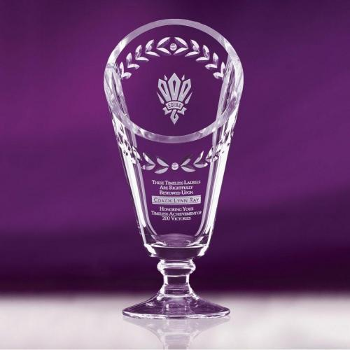 Clear Optical Crystal Laurel Cup