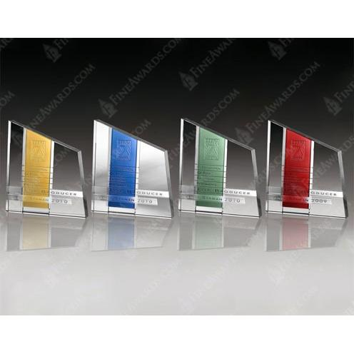 Clear & Colored Optical Crystal Chroma Plaque