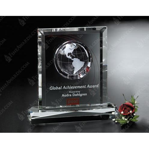 Clear Crystal Columbus Global Award