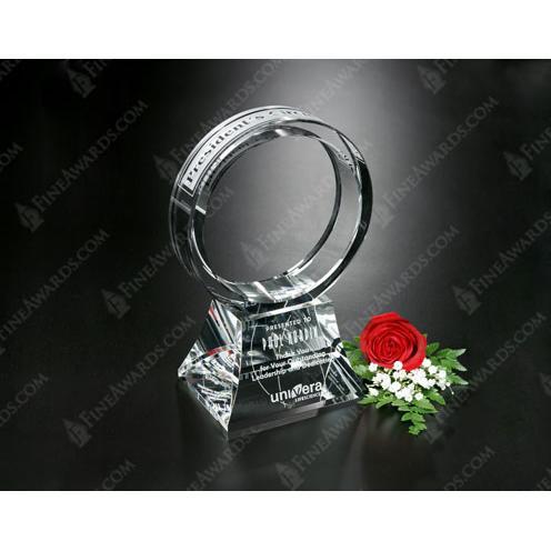 Clear Optical Crystal Corona Award