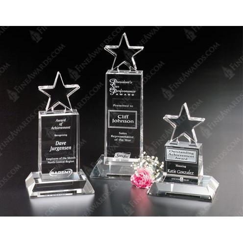 Clear Crystal Champion Pedestal Star