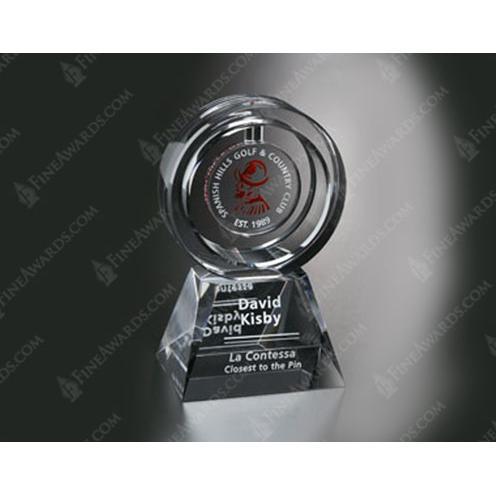 Clear Optical Crystal Annular Award
