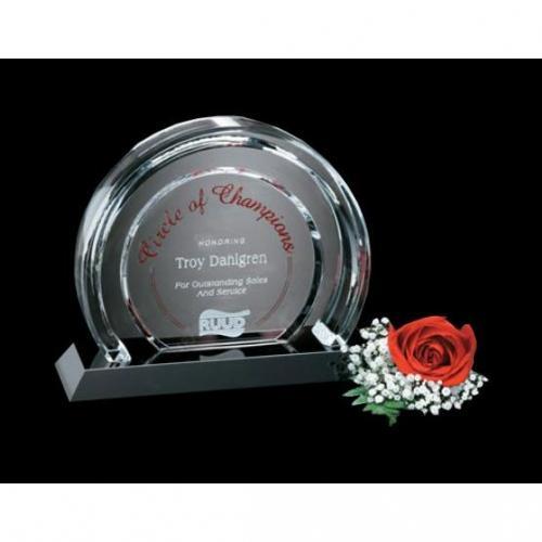 Halo Optical Crystal Award on Dark Base