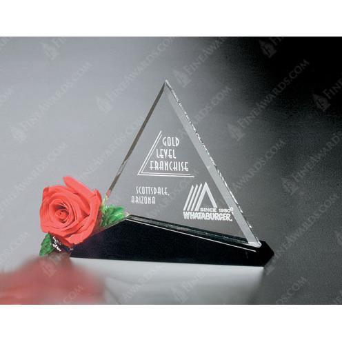 Cavalcade Clear Crystal Triangle Award