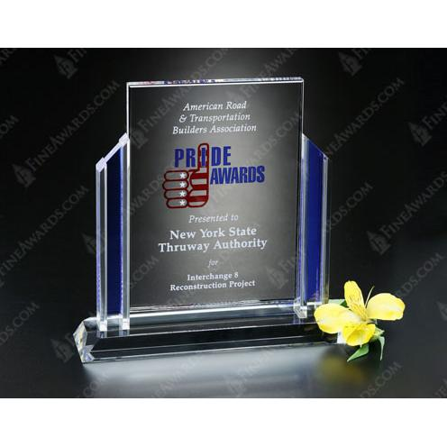 Heritage Clear & Blue Crystal Award