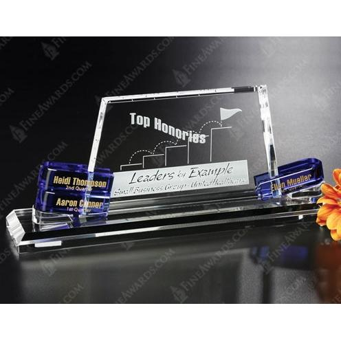 Clear &Blue Alameda Goal-Setter Crystal Award