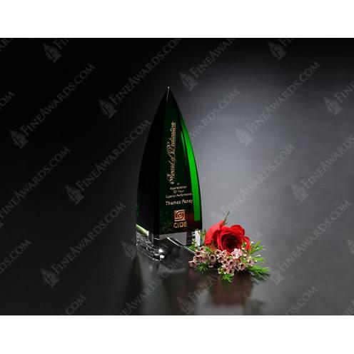 Culmination Green Award with Clear Base