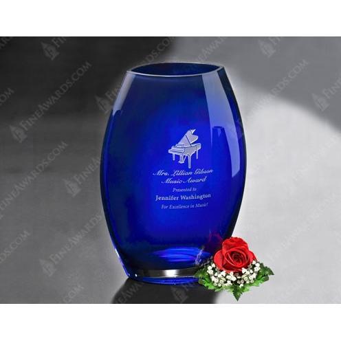 Blue Cobalt Oval Vase