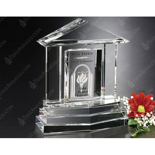 Clear Optical Crystal Georgetown Award
