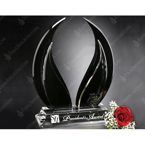 Black Crystal Wings of Peace Award