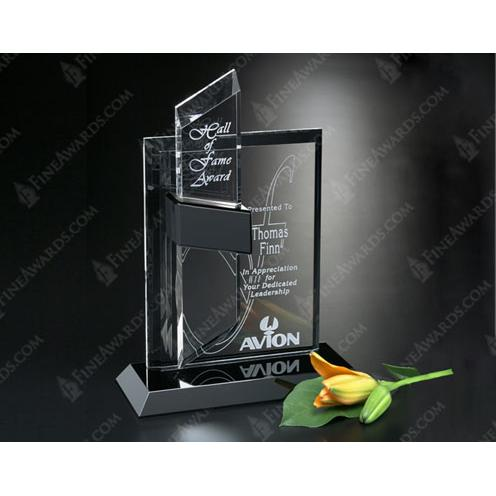 Intrepid Optical Crystal Award with Black Glass