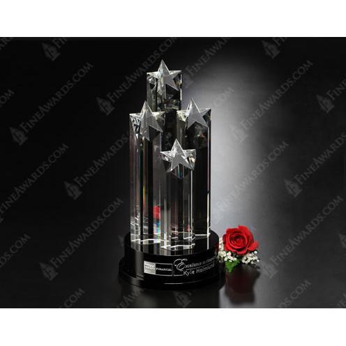Constellation Clear Crystal Award on Black Base