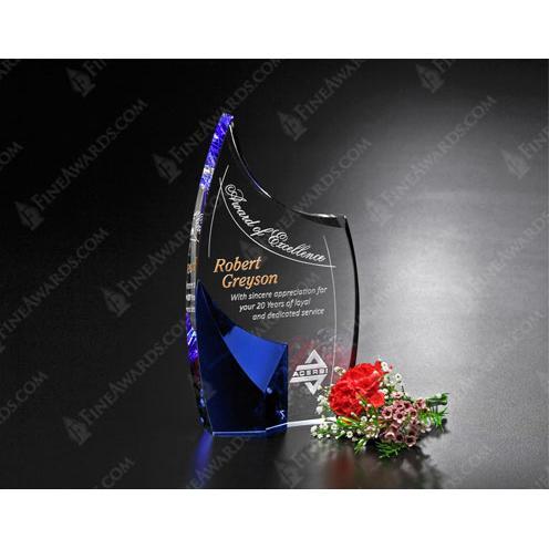 Allure Clear & Blue Glass Award
