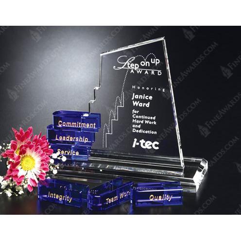Clear & Blue San Marcos Goal Setter Crystal Award