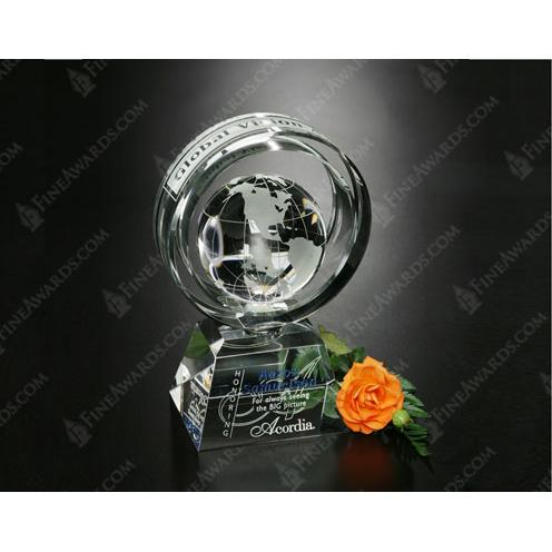 Awards in Motion Clear Crystal Global Ring