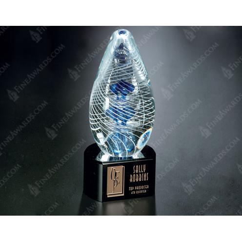 Synergy Optical Crystal Award on Black Base