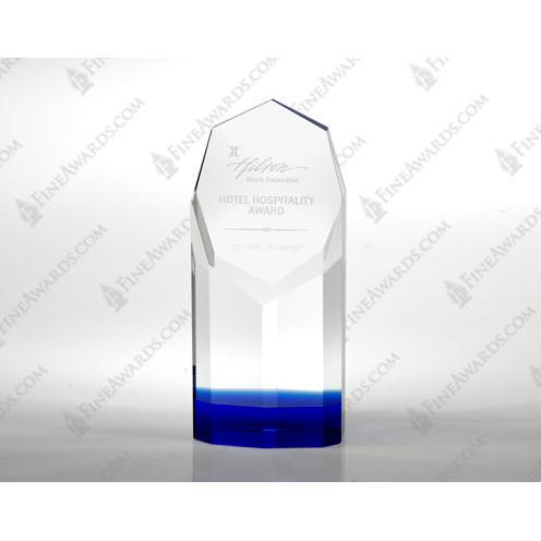 Clear & Blue Crystal Saphire Award