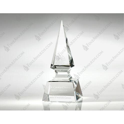 Clear Crystal Spear Award
