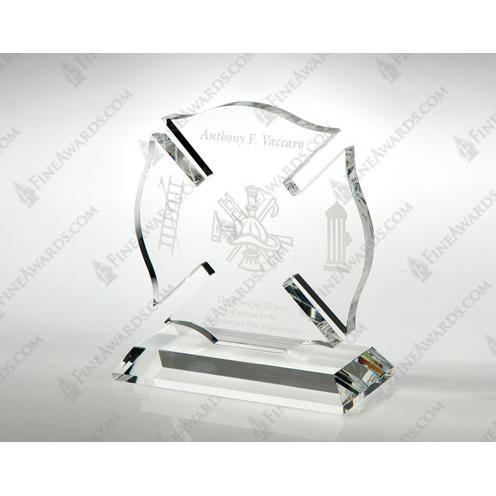 Clear Crystal Maltese Cross