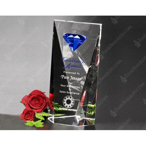 Gemstone Clear Optical Crystal Award