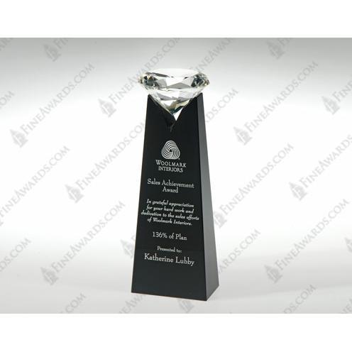 Black & Clear Crystal Rising Diamond Award