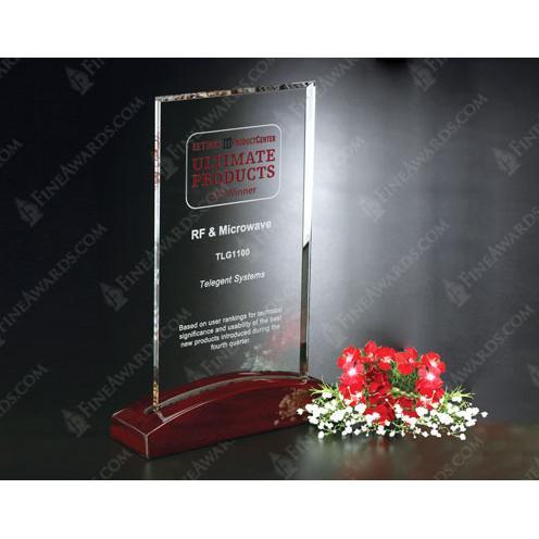 Parkdale Optical Crystal Rectangle Trophy on Luster Base