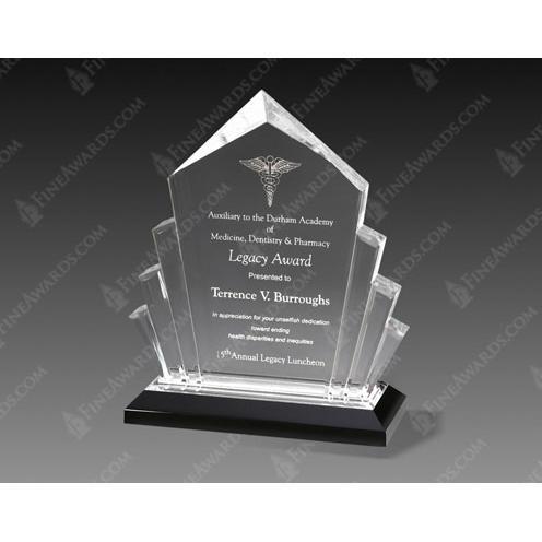 Silver Arrow Acrylic Award on Black Base