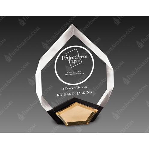 Marquis Acrylic Award with Gold Crown